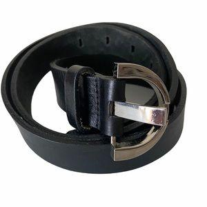 Danier Italian Leather Black Belt, size Large